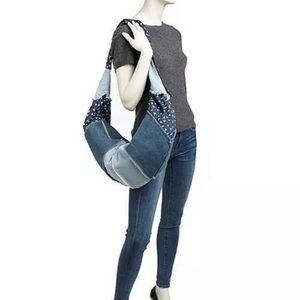 Toms XL Denim Hobo Bag